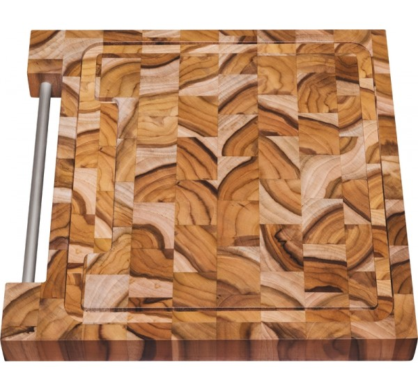 Tábua Quadrada para Churrasco 30x30x3 - Madeira Invertida Teca - Churrasco