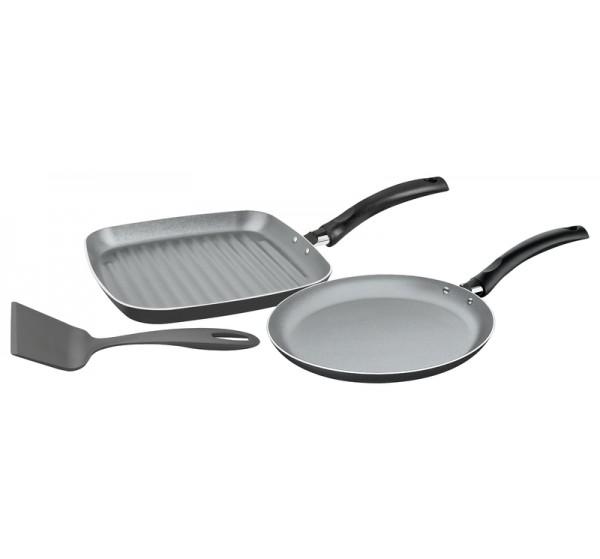 Jogo tapioqueira/bistiqueira de alumínio com revestimento interno de antiaderente 3 peças - Turim