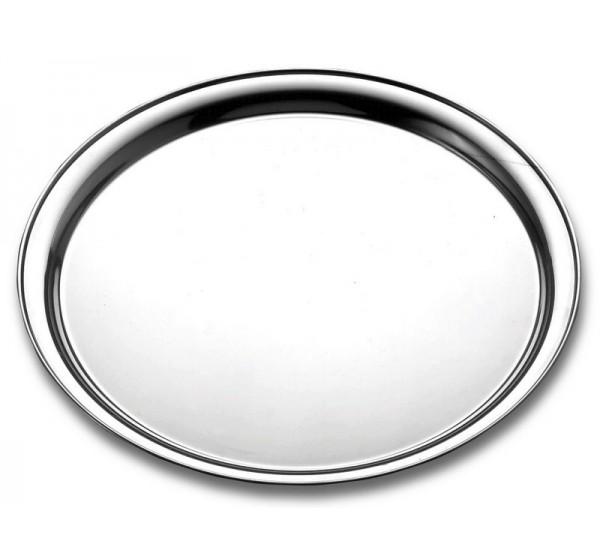 Bandeja redonda aço inox 30,2cm - Service