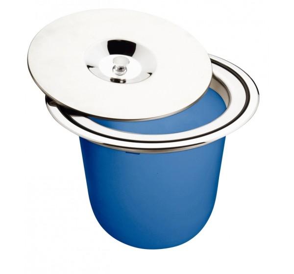Lixeira de Embutir Tramontina Clean Round em Aço Inox com Balde Plástico 8L