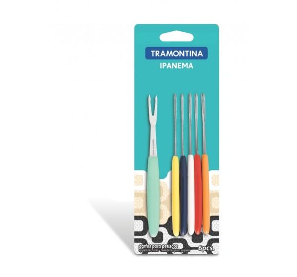 Conjunto garfos para petiscos 6 peças - Ipanema