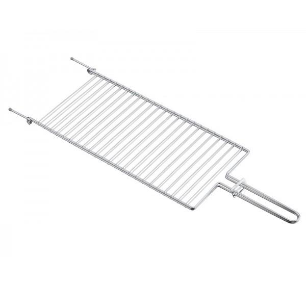 Grelha plana em aço inox 56x18,5 - Churrasco