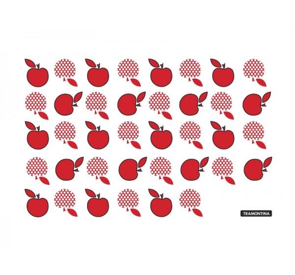 Tábua de Vidro Retangular Vermelha 20x30