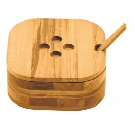 Farinheiro Madeira Muiracatiara + colher de bamboo - Churrasco - Churrasco