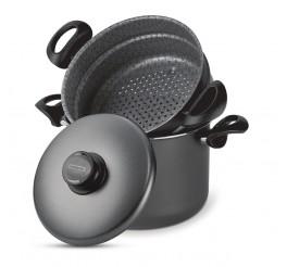 Cozi-vapore de alumínio com revestimento interno de antiaderente 22cm - Paris