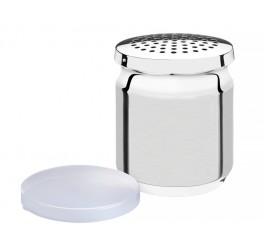 Recipiente para queijo aço inox com tampa plástica - Utility