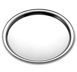 Bandeja redonda aço inox 45cm - Service