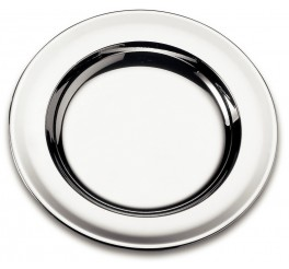 Prato raso aço inox 23cm - Service
