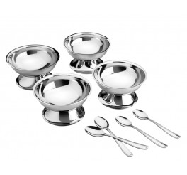Kit para sobremesa aço inox 8 peças - Service