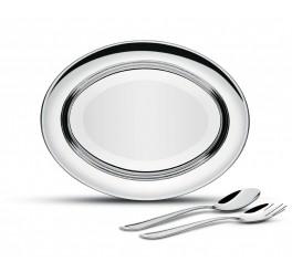 Kit para salada aço inox 3 peças - Buena