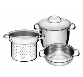 Jogo multi cooker aço inox 3 peças - Allegra