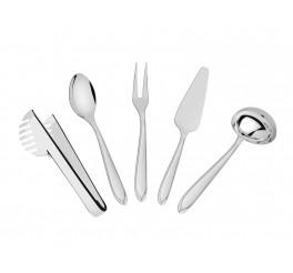 Jogo de utensílios aço inox 5 peças - Utility