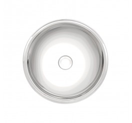Lavabo de sobrepor Tramontina Redonda em Aço Inox Alto Brilho 24 cm - Perfecta