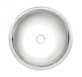 Lavabo de sobrepor Tramontina Redonda em Aço Inox Alto Brilho 30 cm - Perfecta