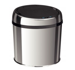 Lixeira em aço inox automática com sensor 6L - Easy - Lixeiras