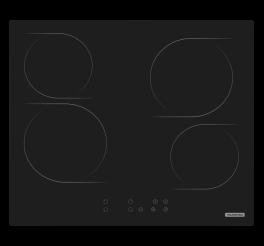 Cooktop Elétrico Tramontina New Square Vitrocerâmico com 4 Áreas de Aquecimento e Comando Touch - New Square Touch 4EV 60
