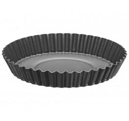 Forma para torta e bolo de alumínio com revestimento interno antiaderente 22cm - Grafite - Brasil