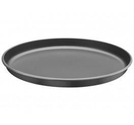 Assadeira para pizza de alumínio com revestimento interno antiaderente 30cm - Grafite - Brasil