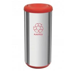 Lixeira com tampa basculante 40L - Cápsula Selecta Plus - Vermelho