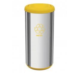 Lixeira com tampa basculante 40L - Cápsula Selecta Plus - Amarelo