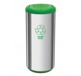 Lixeira com tampa basculante 40L - Cápsula Selecta Plus - Verde