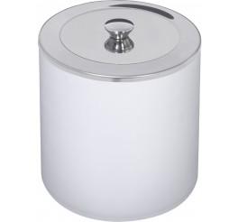 Lixeira em polipropileno e tampa inox 5L branco - Útil
