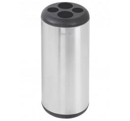 Lixeira Porta Copos em aço inox 31L - Lixeiras