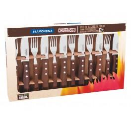 Jogo de talheres para churrasco 12 peças - Churrasco