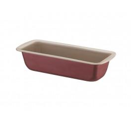Forma para pão e bolo de alumínio com revestimento interno antiaderente 22cm - Vermelho - Brasil