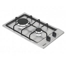 Cooktop a Gás Tramontina em Aço Inox 2 Queimadores - Domino 2GX 30