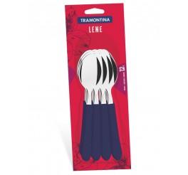 Conjunto colheres de mesa 12 peças - Leme - Cor Azul