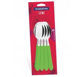 Conjunto colheres de mesa 12 peças - Leme - Cor Verde
