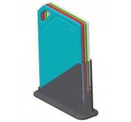 Conjunto de tábuas de corte com suporte 5 peças - Mixcolor