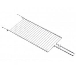 Grelha plana em aço inox 72,5x23 - Churrasco