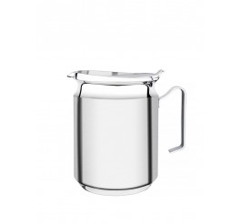 Jarra para água com tampa aço inox 2L 12,6cm - Chá e Café