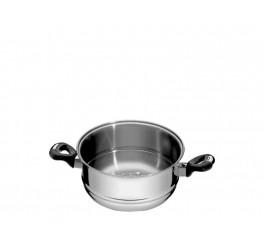Cozi-vapore aço inox 20cm - Solar baquelite