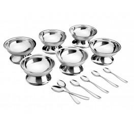 Kit para sobremesa aço inox 12 peças - Service