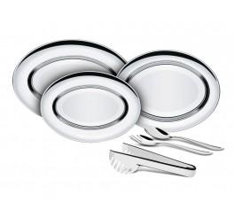 Kit para servir aço inox 6 peças - Buena