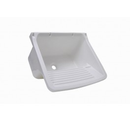 Tanque Plástico para lavar roupa 58x52x32 24 Litros TQ2 Branco Astra