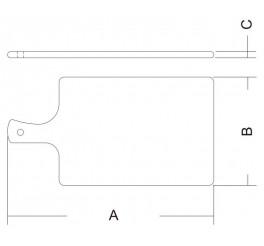 Tábua retangular universal 40x21x1 - Daily