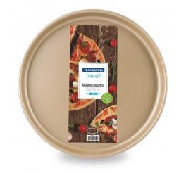 Assadeira para pizza de alumínio com revestimento interno antiaderente 35cm - Vermelho - Brasil
