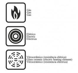 Frigideira profissional de alumínio com revestimento interno de cerâmico 32cm - Profissional