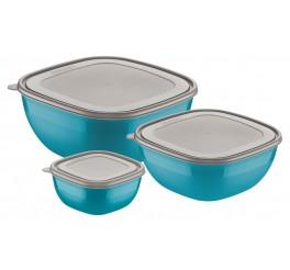 Jogo de potes 3 peças - Mixcolor - Cor Azul