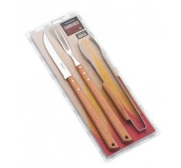 Kit de utensílios para churrasco 3 peças - Pampa