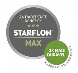 Jogo de Assadeiras Tramontina em Alumínio com Revestimento Interno e Externo Antiaderente Starflon Max Grafite 3 Peças - Paris Texture