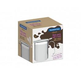 Bule para café e leite aço inox 900ml 10cm - Buena