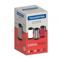 Bule térmico com infusor 500ml - Exata - Cor Branco
