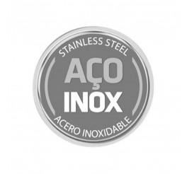 Panela de pressão aço inox com fundo triplo 6L 22cm - Solar - Cor Inox