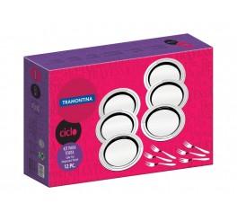 Kit para torta aço inox 12 peças - Ciclo