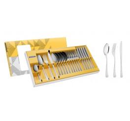 Faqueiro aço inox com faca de mesa 24 peças - Havana